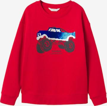 MANGO KIDS Sweatshirt 'Frank' in Rot