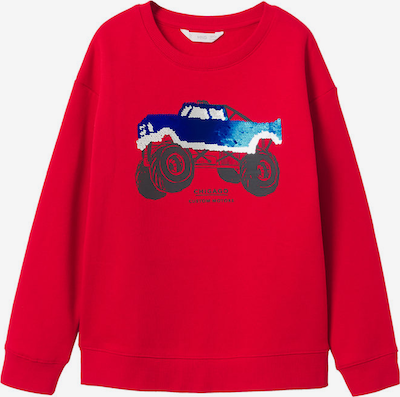 MANGO KIDS Sweatshirt 'Frank' in blau / dunkelgrau / rot, Produktansicht