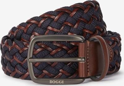 Boggi Milano Gürtel in navy / braun, Produktansicht