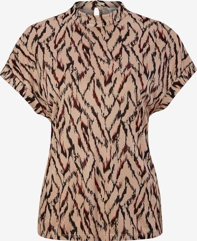 s.Oliver BLACK LABEL Shirt in hellbeige / rot / schwarz, Produktansicht