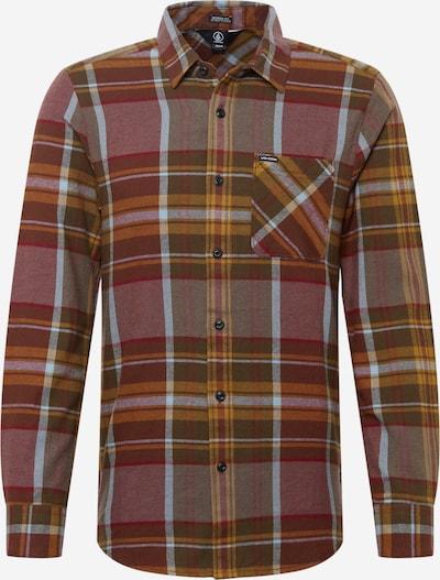 Volcom Button Up Shirt 'CADEN' in Ochre / Brocade / Light grey / mottled grey / Red, Item view