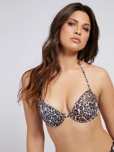 világosbarna / sötét barna / fehér GUESS Bikini felső, Modell nézet