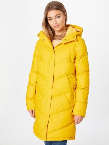 Derbe Mantel in Gelb