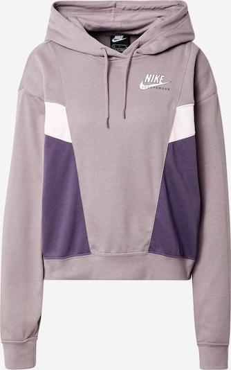 Felpa 'Heritage' Nike Sportswear di colore sambuco / lilla scuro / bianco, Visualizzazione prodotti