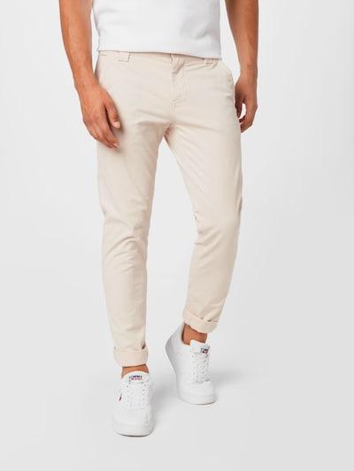 Tommy Jeans Lærredsbukser i lysebeige, Modelvisning