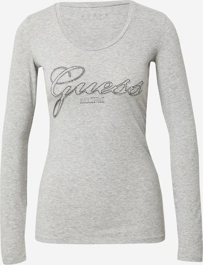 GUESS Tričko 'Raisa' - šedý melír / černá, Produkt
