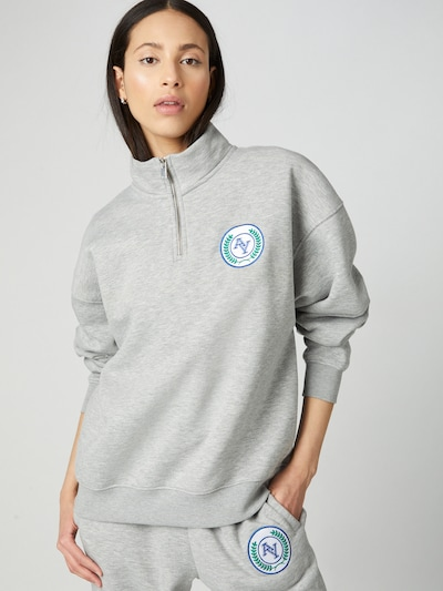 ABOUT YOU Limited Sweatshirt 'Mala' in graumeliert: Frontalansicht