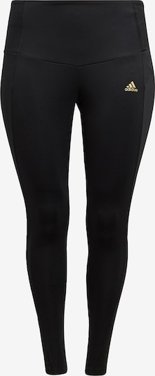 ADIDAS PERFORMANCE Workout Pants 'Designed to Move Twinkle' in Gold / Black, Item view