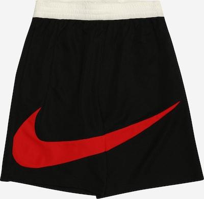 NIKE Sportshorts in rot / schwarz / weiß, Produktansicht
