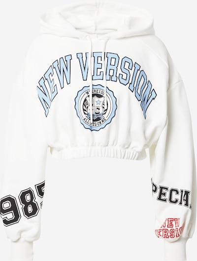 DeFacto Sweatshirt in Ecru / Navy / Light blue / Red, Item view