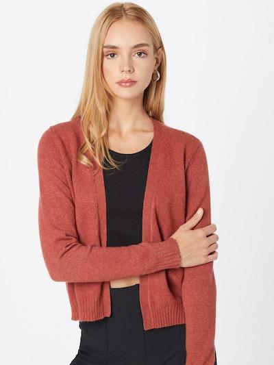 VILA Strickjacke in rot, Modelansicht