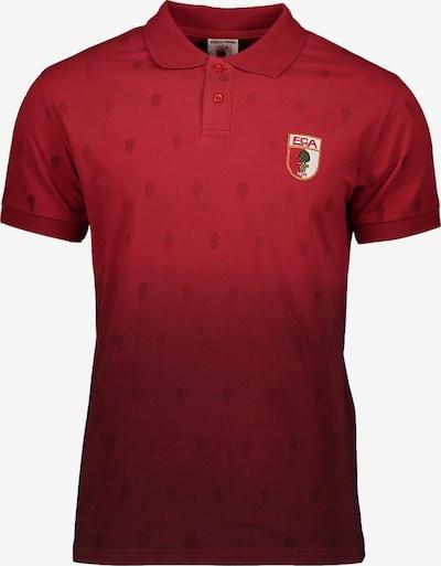FC Augsburg Poloshirt in hellrot / dunkelrot, Produktansicht