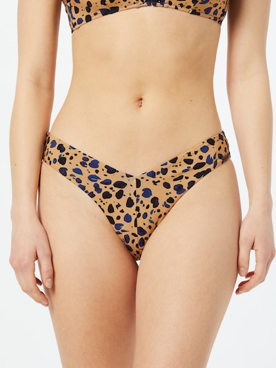watercult Bikinibroek in de kleur Lichtbeige / Nachtblauw / Zwart, Modelweergave