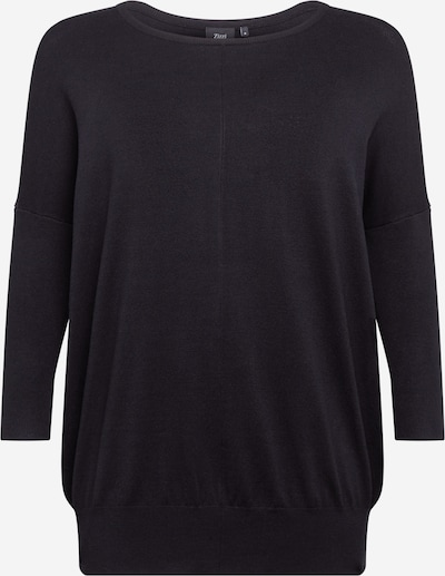 Zizzi Pullover 'Carrie' in schwarz, Produktansicht