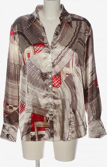 Marcona Hemd-Bluse in XXXL in rot / weiß / wollweiß, Produktansicht