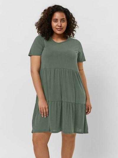 Vero Moda Curve Kleid 'Calia' in grün, Modelansicht