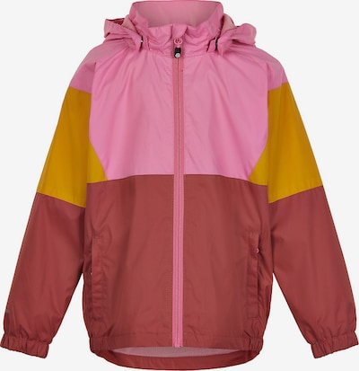 COLOR KIDS Outdoorjacke in gelb / pink / dunkelrot, Produktansicht