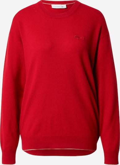 LACOSTE Pullover in rot / weiß, Produktansicht