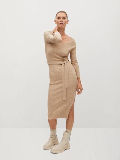 MANGO Úpletové šaty 'Goleta' - písková, Model/ka