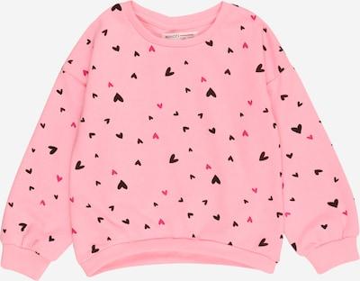 MINOTI Sweat-shirt en brun foncé / rose / rose clair, Vue avec produit