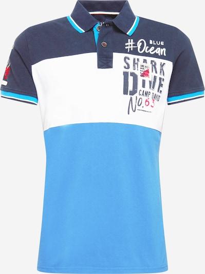 CAMP DAVID T-Shirt en bleu marine / bleu clair / rouge clair / blanc, Vue avec produit