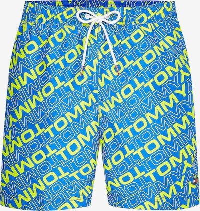 TOMMY HILFIGER Badeshorts in blau / gelb / rot / weiß, Produktansicht