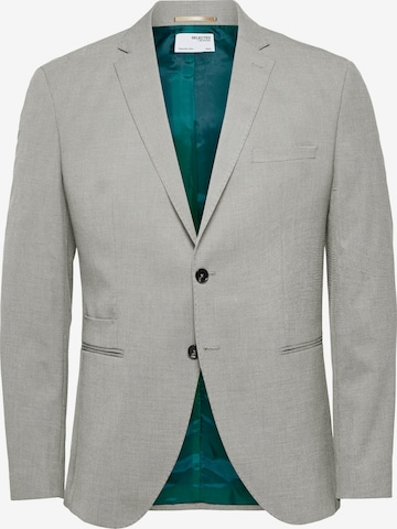 Giacca business da completo 'SLHSLIM-MAZELOGAN SAND STRUC BLZ B NOOS' di SELECTED HOMME in grigio