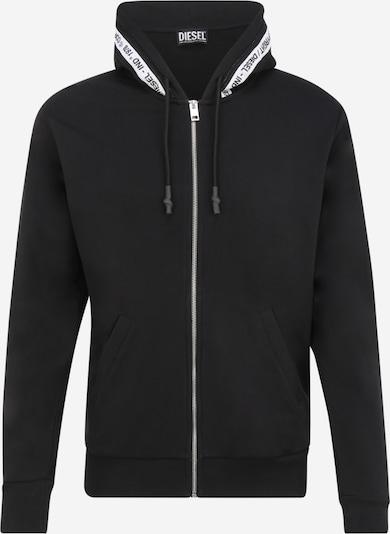 DIESEL Sweatjacke 'BRANDON' in schwarz / weiß, Produktansicht