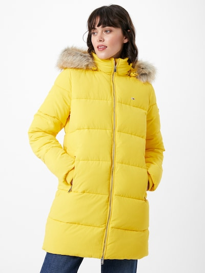Tommy Jeans Wintermantel 'Modern Puffa' in gelb, Modelansicht