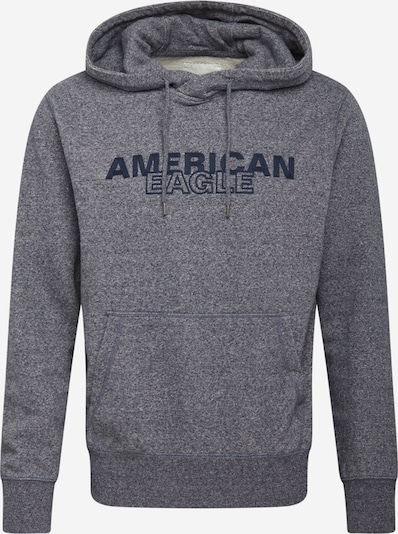 American Eagle Sweatshirt 'HEATHER' in marine / graumeliert, Produktansicht
