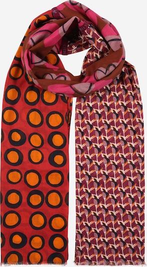 LIEBLINGSSTÜCK Schal 'Madelaine' in nachtblau / orange / dunkelrot, Produktansicht