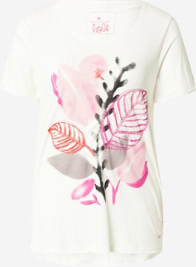 Tricou 'Candy' LIEBLINGSSTÜCK pe gri / gri bazalt / portocaliu închis / roz / alb murdar, Vizualizare produs