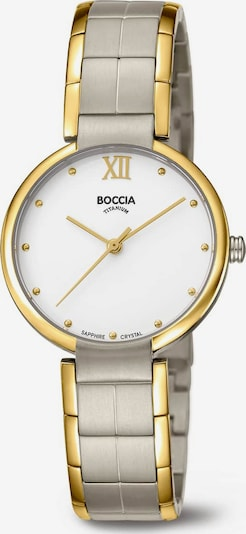 Boccia Titanium Uhr in gold / silbergrau, Produktansicht