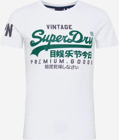 Tricou Superdry pe verde / vânătă / offwhite, Vizualizare produs