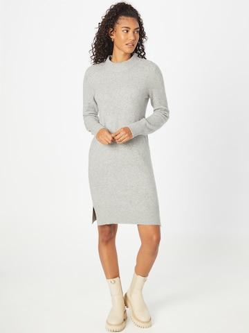 TOM TAILOR Gebreide jurk in Grijs