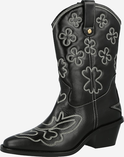 Fabienne Chapot Cowboy Boots 'Jolly' in Black / White, Item view