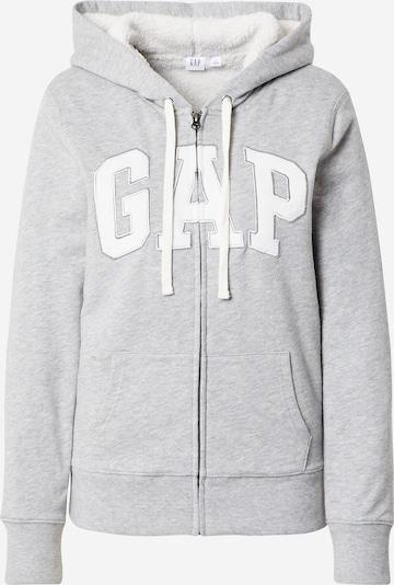 GAP Tepláková bunda 'SHERPA' - sivá melírovaná / biela, Produkt