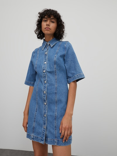 EDITED Рокля тип риза 'Nica' в син деним, Преглед на модела