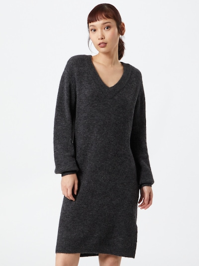 OBJECT Knit dress 'NETE' in Dark grey, View model