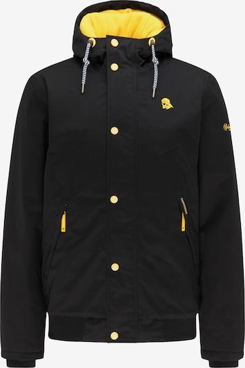 Schmuddelwedda Winterjas in de kleur Geel / Zwart, Productweergave