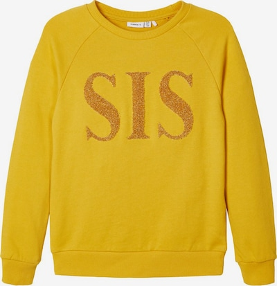 NAME IT Sweatshirt in gelb / gold, Produktansicht