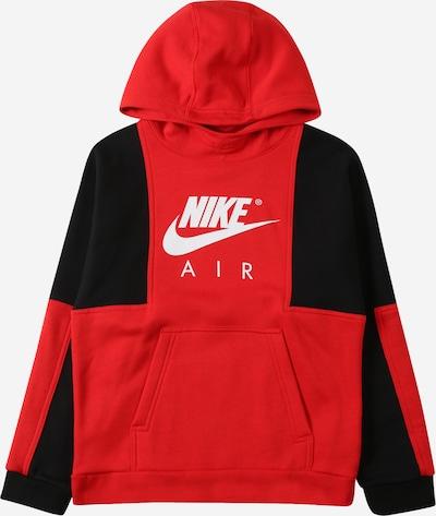 Nike Sportswear Sweatshirt in de kleur Rood / Zwart / Wit, Productweergave