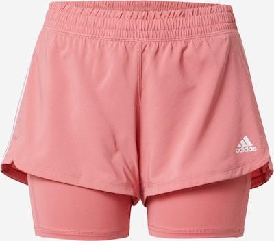 ADIDAS PERFORMANCE Спортен панталон 'PACER' в бледорозово / бяло, Преглед на продукта