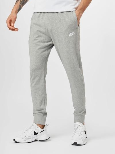 szürke melír / fehér Nike Sportswear Nadrág, Modell nézet