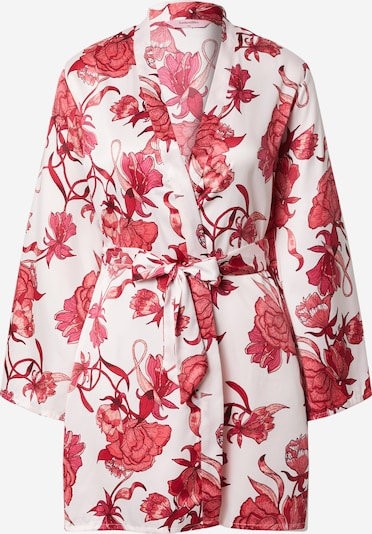 Hunkemöller Dressing gown 'Zinnia' in Pink / Eosin / White, Item view