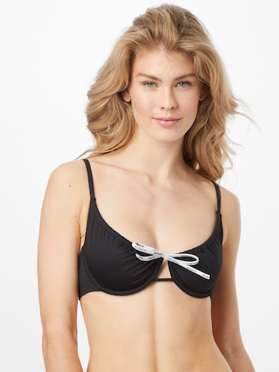 Calvin Klein Swimwear Bikini top in Black / White, View model
