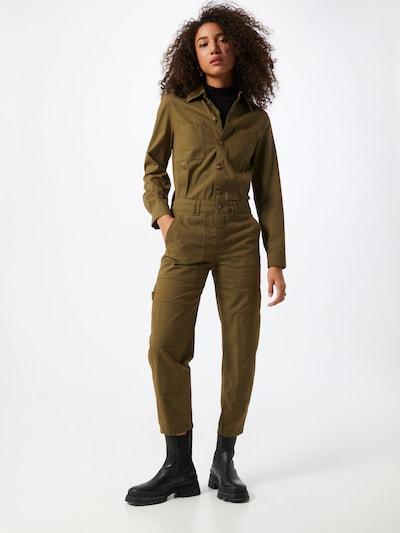 DRYKORN Jumpsuit 'MARJAM' in de kleur Olijfgroen, Modelweergave