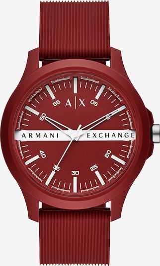 ARMANI EXCHANGE Uhr in weinrot, Produktansicht