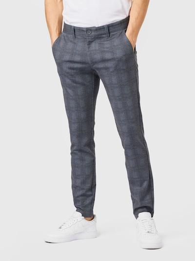 Only & Sons Pantalon chino 'MARK' en bleu-gris / rouge pastel, Vue avec modèle
