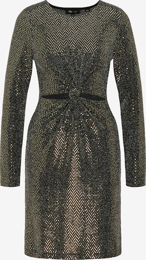 myMo at night Kleid in gold / schwarz, Produktansicht